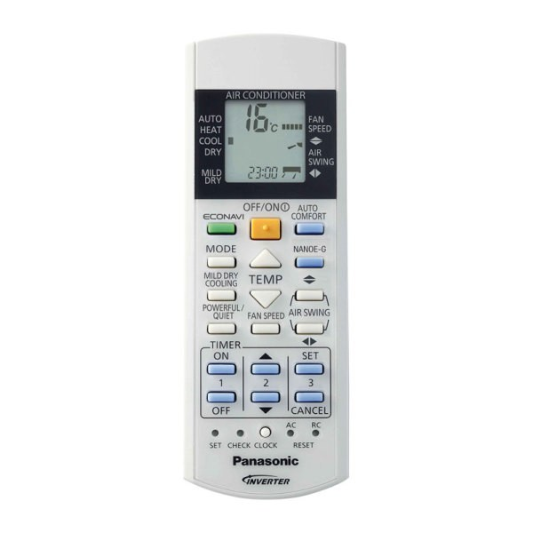 Panasonic ETHEREA Inverter klíma távirányító AC_RE_XE-E9-28QKEW