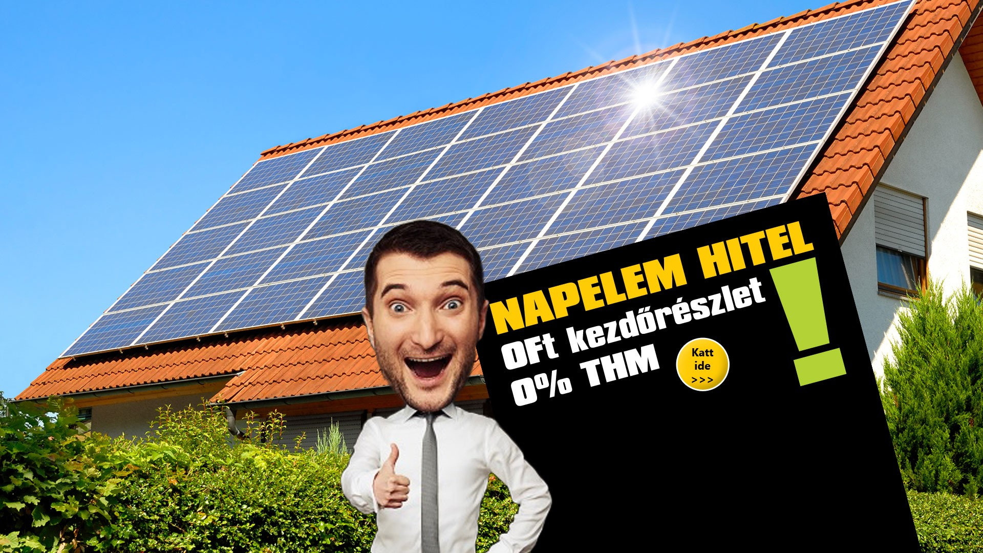 napelem, napelem rendszer 0% THM